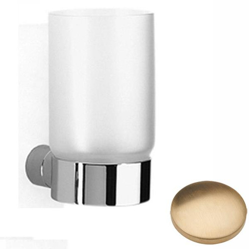 Brushed Gold Unlacquered Samuel Heath Xenon Frosted Glass Tumbler N5035
