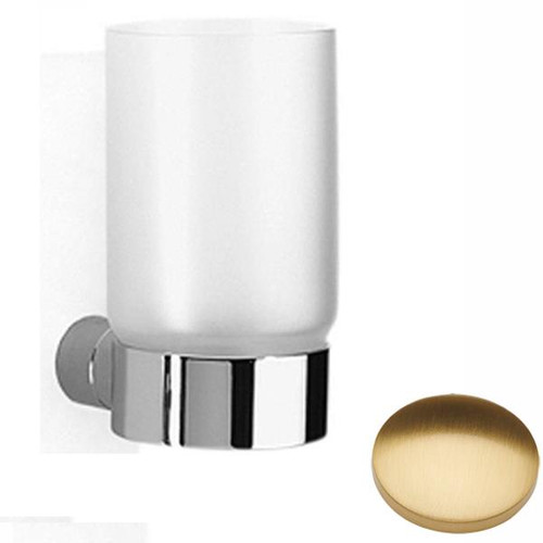 Brushed Gold Gloss Samuel Heath Xenon Frosted Glass Tumbler N5035