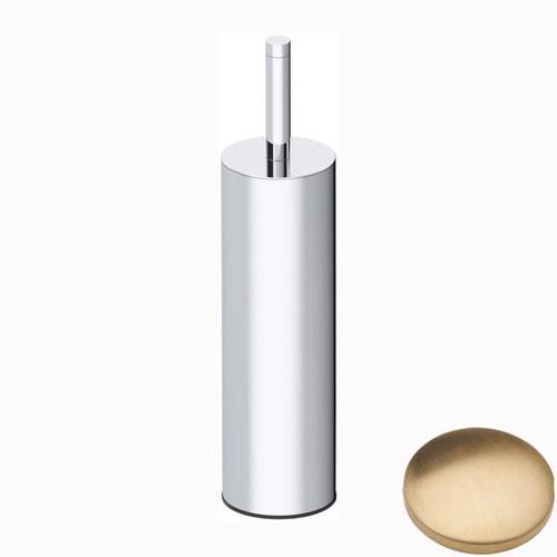 Brushed Gold Unlacquered Samuel Heath Xenon Freestanding Toilet Brush L5044