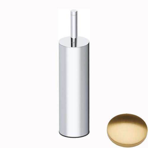 Brushed Gold Gloss Samuel Heath Xenon Freestanding Toilet Brush L5044