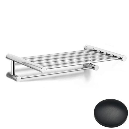 Matt Black Chrome Samuel Heath Xenon Towel Shelf N5173