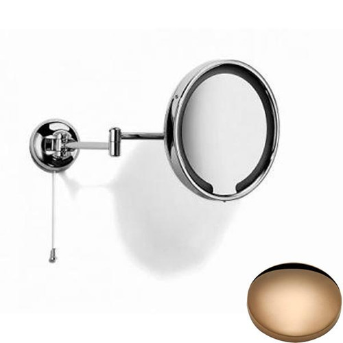 Antique Gold Samuel Heath Novis Double Arm LED Illuminated Magnifying Pivotal Mirror N510-3
