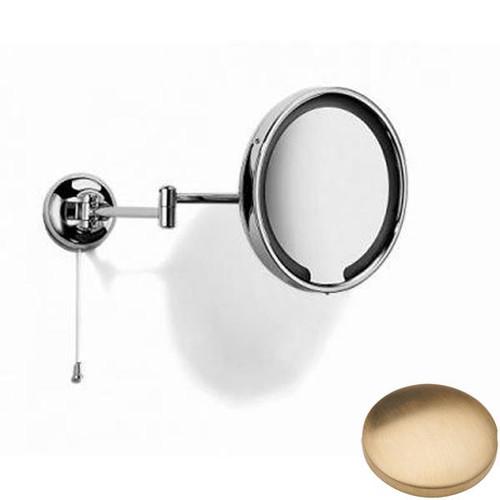 Brushed Gold Unlacquered Samuel Heath Novis Double Arm LED Illuminated Magnifying Pivotal Mirror N510-3