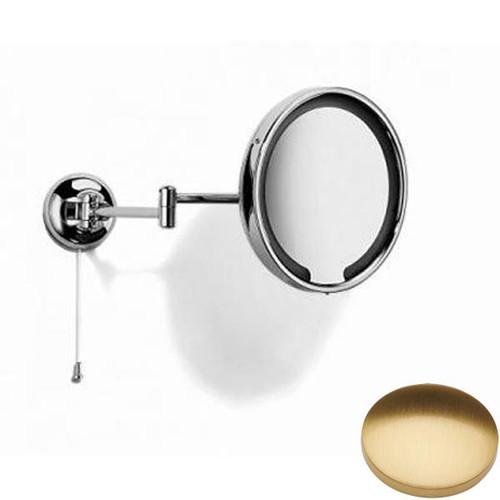 Brushed Gold Gloss Samuel Heath Novis Double Arm LED Illuminated Magnifying Pivotal Mirror N510-3