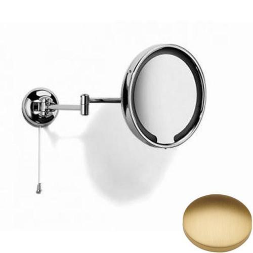 Brushed Gold Matt Samuel Heath Novis Double Arm LED Illuminated Magnifying Pivotal Mirror N510-3