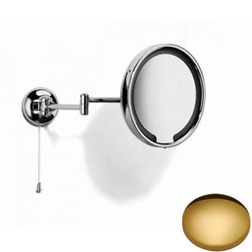 Polished Brass Samuel Heath Novis Double Arm LED Illuminated Magnifying Pivotal Mirror N510-3