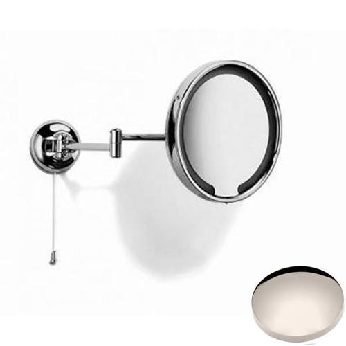 Polished Nickel Samuel Heath Novis Double Arm LED Illuminated Magnifying Pivotal Mirror N510-3