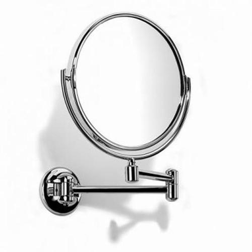 Chrome Plated Samuel Heath Novis Double Arm Pivotal Mirror Plain / Magnifying L115