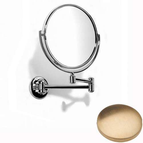 Brushed Gold Unlacquered Samuel Heath Novis Double Arm Pivotal Mirror Plain / Magnifying L115