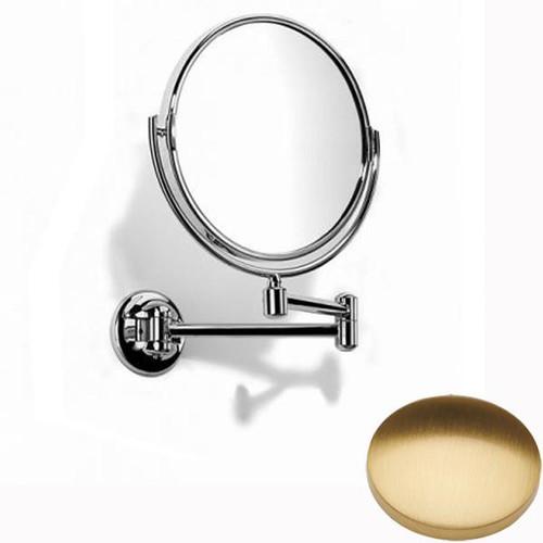 Brushed Gold Gloss Samuel Heath Novis Double Arm Pivotal Mirror Plain / Magnifying L115
