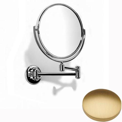Brushed Gold Matt Samuel Heath Novis Double Arm Pivotal Mirror Plain / Magnifying L115