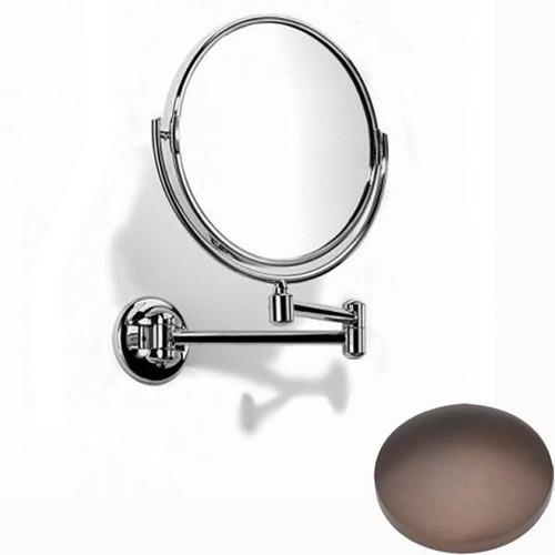 City Bronze Samuel Heath Novis Double Arm Pivotal Mirror Plain / Magnifying L115