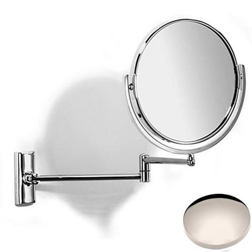Polished Nickel Samuel Heath Novis Double Arm Pivotal Mirror Plain/Magnifying L114