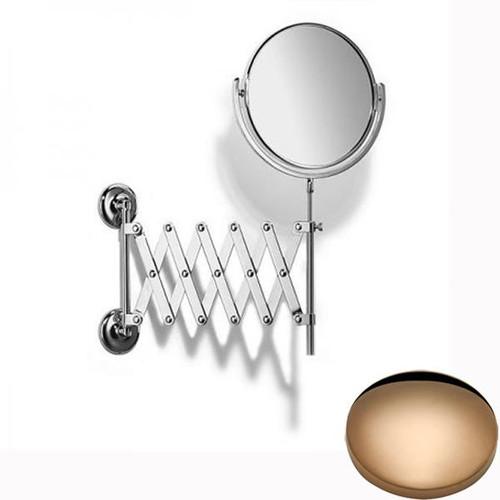 Antique Gold Samuel Heath Novis Extending Mirror Plain / Magnifying L1108