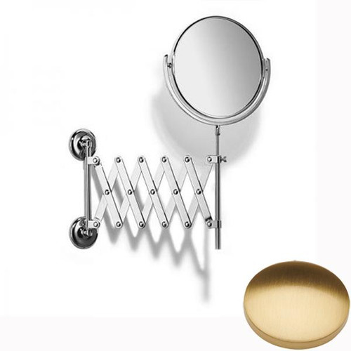 Brushed Gold Gloss Samuel Heath Novis Extending Mirror Plain / Magnifying L1108