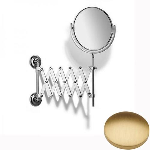 Brushed Gold Matt Samuel Heath Novis Extending Mirror Plain / Magnifying L1108