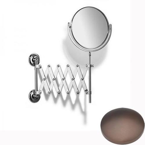 City Bronze Samuel Heath Novis Extending Mirror Plain / Magnifying L1108