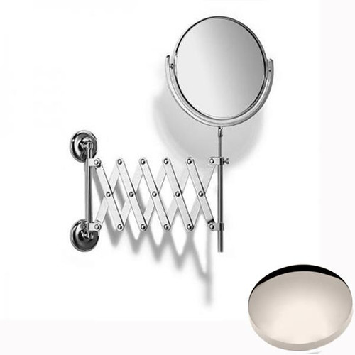 Polished Nickel Samuel Heath Novis Extending Mirror Plain / Magnifying L1108