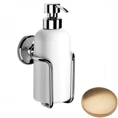 Brushed Gold Unlacquered Samuel Heath Novis Liquid Soap Dispenser N1047