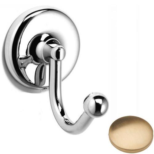 Brushed Gold Unlacquered Samuel Heath Novis Robe Hook N1048