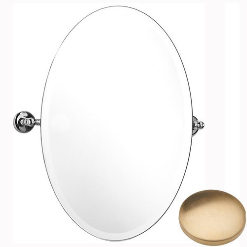 Brushed Gold Unlacquered Samuel Heath Novis Oval Tilting Mirror L1146