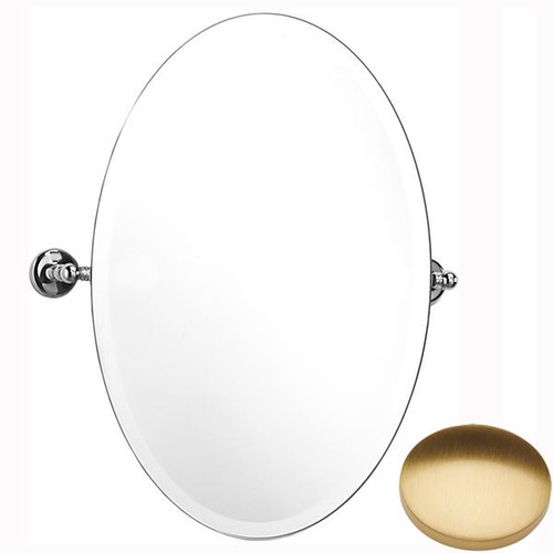Brushed Gold Gloss Samuel Heath Novis Oval Tilting Mirror L1146
