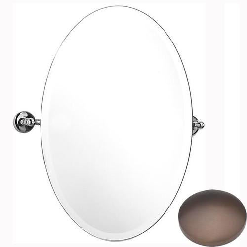 City Bronze Samuel Heath Novis Oval Tilting Mirror L1146