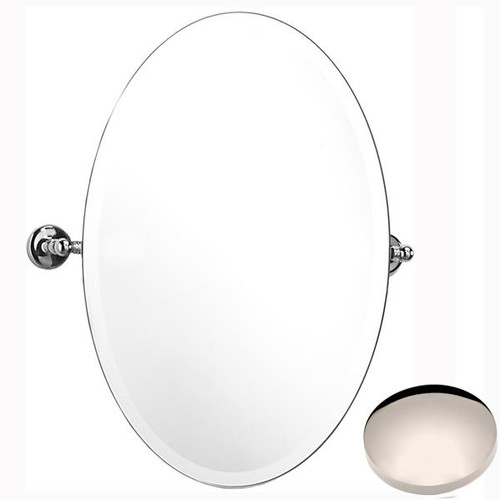 Polished Nickel Samuel Heath Novis Oval Tilting Mirror L1146