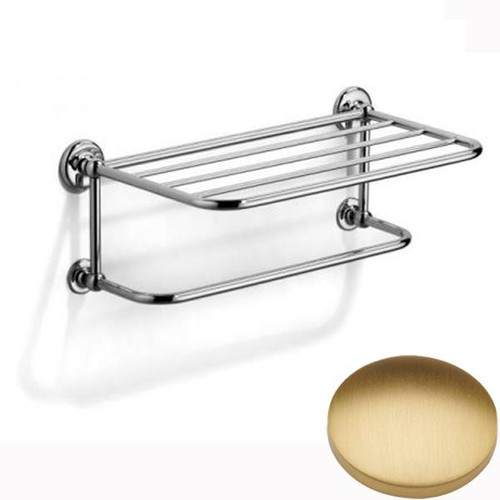 Brushed Gold Matt Samuel Heath Novis Towel Shelf With Towel Hanging Rail N1737