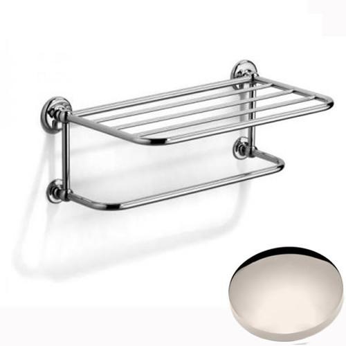 Polished Nickel Samuel Heath Novis Towel Shelf With Towel Hanging Rail N1737