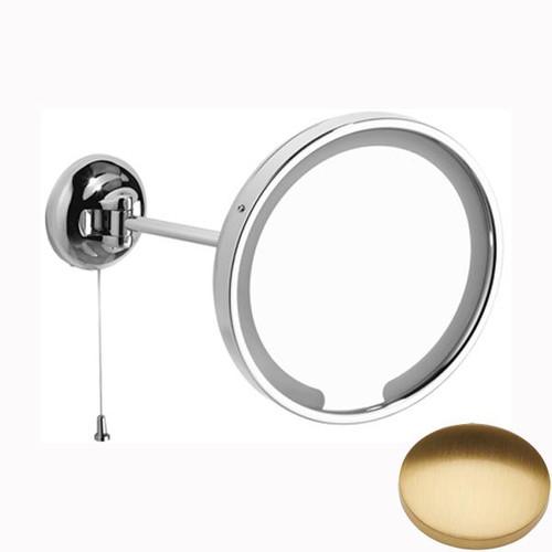 Brushed Gold Gloss Samuel Heath Novis Single Arm LED Illuminated Magnifying Pivotal Mirror N509-3