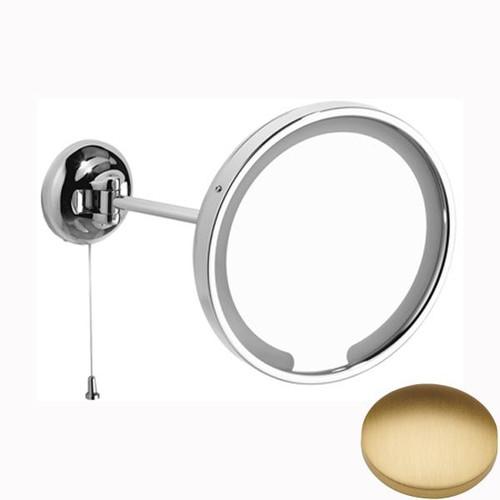 Brushed Gold Matt Samuel Heath Novis Single Arm LED Illuminated Magnifying Pivotal Mirror N509-3