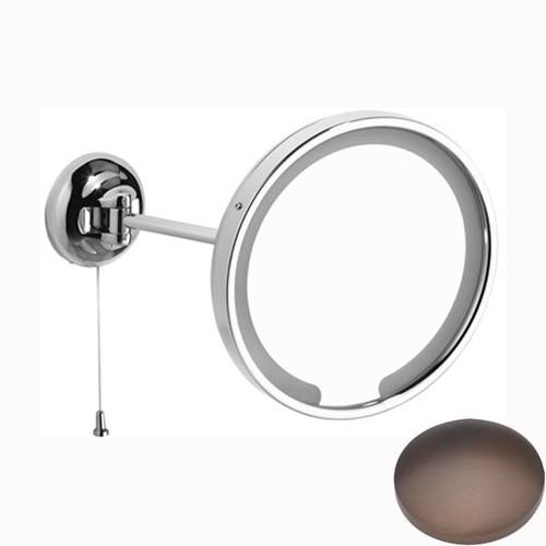 City Bronze Samuel Heath Novis Single Arm LED Illuminated Magnifying Pivotal Mirror N509-3