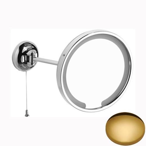 Polished Brass Samuel Heath Novis Single Arm LED Illuminated Magnifying Pivotal Mirror N509-3
