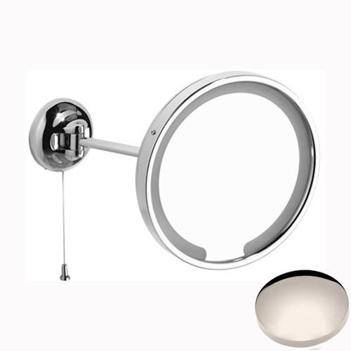 Polished Nickel Samuel Heath Novis Single Arm LED Illuminated Magnifying Pivotal Mirror N509-3