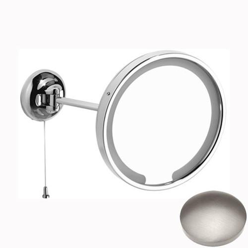 Stainless Steel Finish Samuel Heath Novis Single Arm LED Illuminated Magnifying Pivotal Mirror N509-3