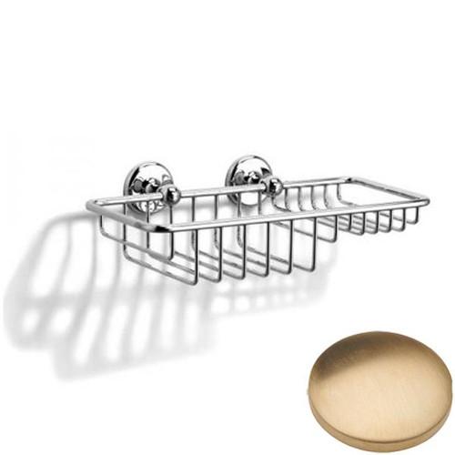 Brushed Gold Unlacquered Samuel Heath Novis Soap & Sponge Basket N1026-W