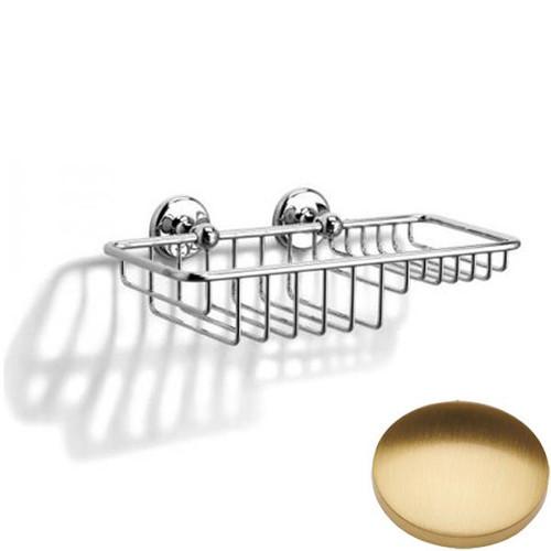 Brushed Gold Gloss Samuel Heath Novis Soap & Sponge Basket N1026-W