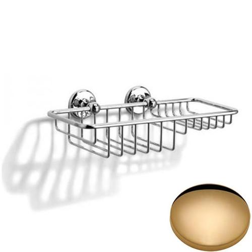 Non-Lacquered Brass Samuel Heath Novis Soap & Sponge Basket N1026-W