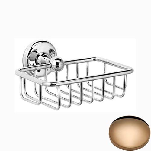 Antique Gold Samuel Heath Novis Soap Basket N1030