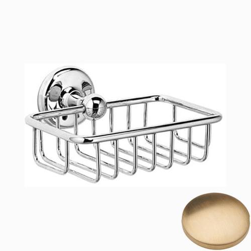 Brushed Gold Unlacquered Samuel Heath Novis Soap Basket N1030