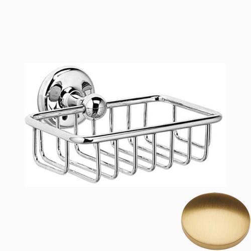 Brushed Gold Gloss Samuel Heath Novis Soap Basket N1030