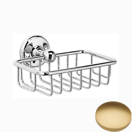 Brushed Gold Matt Samuel Heath Novis Soap Basket N1030