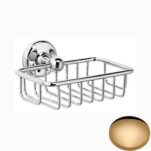Non-Lacquered Brass Samuel Heath Novis Soap Basket N1030