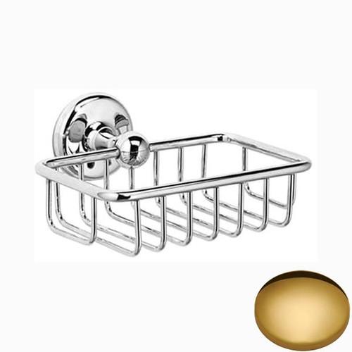 Polished Brass Samuel Heath Novis Soap Basket N1030
