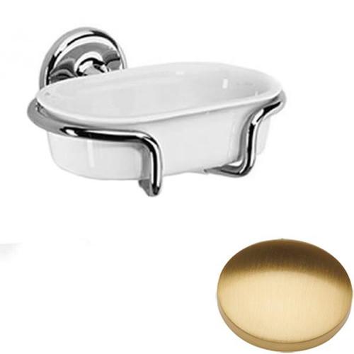 Brushed Gold Gloss Samuel Heath Novis Soap Holder N1034
