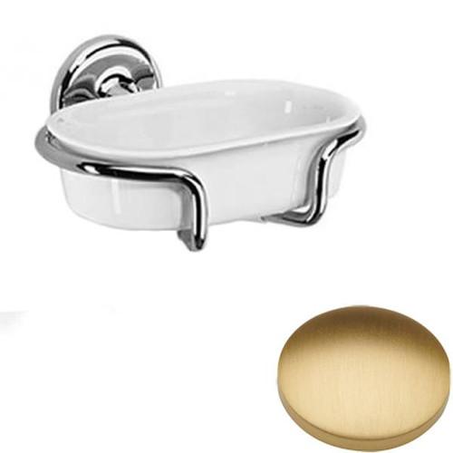 Brushed Gold Matt Samuel Heath Novis Soap Holder N1034