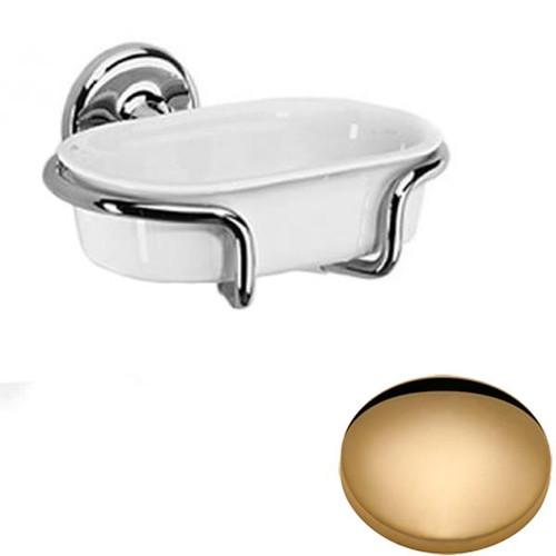 Non-Lacquered Brass Samuel Heath Novis Soap Holder N1034