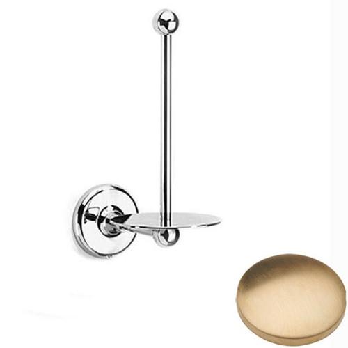 Brushed Gold Unlacquered Samuel Heath Novis Spare Toilet Roll Holder N1031