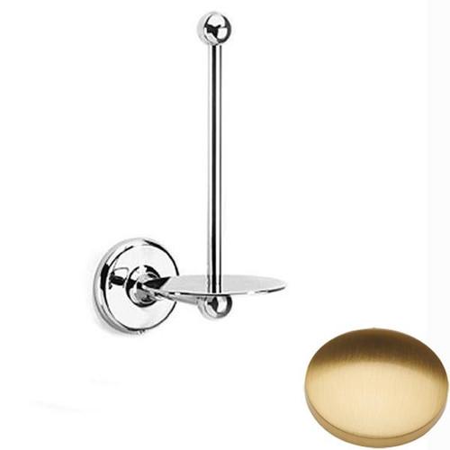 Brushed Gold Gloss Samuel Heath Novis Spare Toilet Roll Holder N1031